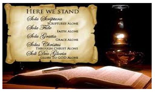 Sola gratia sola fide sola scriptura solus christus soli deo gloria hallelujah
